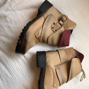 Trendy Ombre Ankle Boots